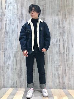 Lee 名古屋店のKazumaさんのLeeの【Winter sale】BOA STORM RIDER ジャケット【デニム】を使ったコーディネート