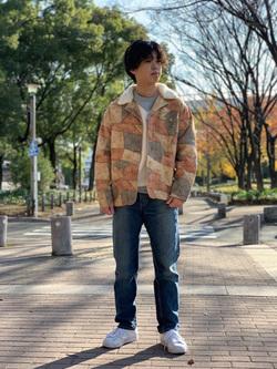 Lee 名古屋店のKazumaさんのLeeの101 PROJECT RIDERS テーパードデニムパンツを使ったコーディネート