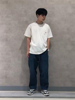 Lee 名古屋店のKazumaさんのLeeの【TOPS 15%OFFクーポン対象】【Lee×GRAMICCI(グラミチ)】バックプリント 半袖Tシャツを使ったコーディネート