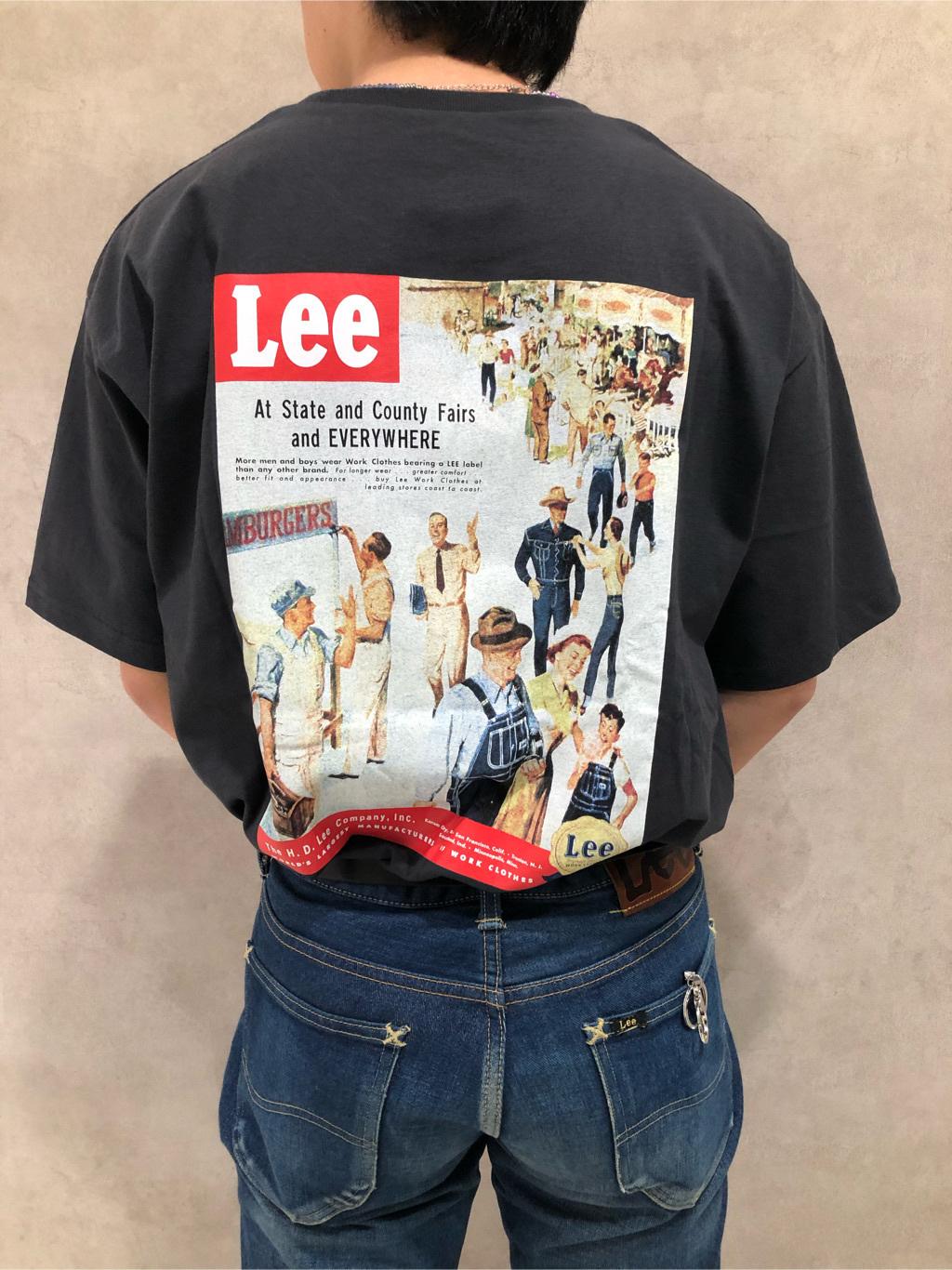 Lee 名古屋店のKazumaさんのLeeのバックプリント 半袖Tシャツを使ったコーディネート