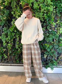 Lee アミュプラザ博多店のNanamiさんのLeeの【Pre sale】TRAD GIRL ダッド トラウザーパンツを使ったコーディネート