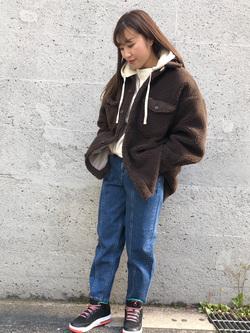 Lee アミュプラザ博多店のNanamiさんのLeeの【再値下げ Winter sale】【ふっくらボア】CPO ジャケットを使ったコーディネート
