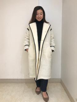 Lee アミュプラザ博多店のNanamiさんのLeeの【寒い冬もあたたかい】ロングボアジャケットを使ったコーディネート