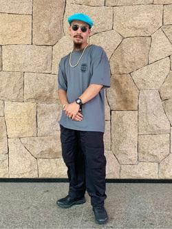 LINKS UMEDA店の番場 祐太郎さんのEDWINの終了【サマーセール】EDWINクラシックロゴ Tシャツ 半袖 (革ラベル)を使ったコーディネート