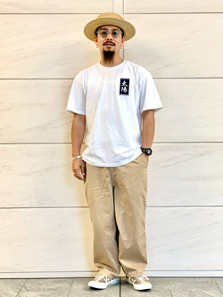LINKS UMEDA店の番場 祐太郎さんのC17の【通販限定】C17 ワイドテーパードを使ったコーディネート