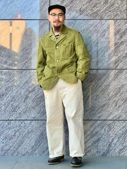 LINKS UMEDA店の番場 祐太郎さんのEDWINの【直営店限定】【子供から大人まで着られる】ボートネック バスクシャツ(ボーダー)【110-180cm】を使ったコーディネート