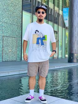LINKS UMEDA店の番場 祐太郎さんのEDWINの【限定】ジーパン女子×江口寿史 Tシャツ Afternoon class 【ユニセックス】を使ったコーディネート
