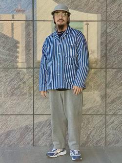 LINKS UMEDA店の番場 祐太郎さんのEDWINのジャージーズ チノ ワイドを使ったコーディネート