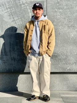 LINKS UMEDA店の番場 祐太郎さんのEDWINの【再値下げ Winter sale】【直営店限定】ペインターパンツを使ったコーディネート
