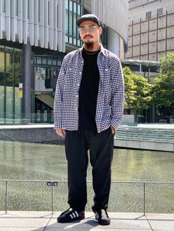 LINKS UMEDA店の番場 祐太郎さんのEDWINのF.L.E 722 トラウザーを使ったコーディネート