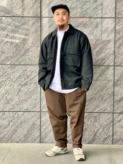 LINKS UMEDA店の番場 祐太郎さんのEDWINの【再値下げ Winter sale】ヘリンボーン CPO ジャケットを使ったコーディネート