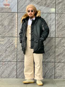 LINKS UMEDA店の番場 祐太郎さんのALPHAのN-3B タイトジャケットを使ったコーディネート