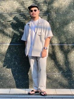 LINKS UMEDA店の番場 祐太郎さんのEDWINの歩クール イージー8ポケット 半袖シャツを使ったコーディネート