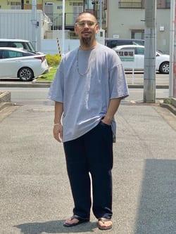 LINKS UMEDA店の番場 祐太郎さんのEDWINの【コンセプトショップ限定】INDIGO GARMENTS HUNTING  PANTSを使ったコーディネート