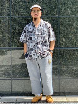 LINKS UMEDA店の番場 祐太郎さんのEDWINの【EDWIN 60周年限定】 半袖シャツを使ったコーディネート