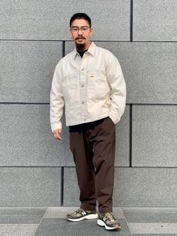 LINKS UMEDA店の番場 祐太郎さんのEDWINのF.L.E ワイド テーパードを使ったコーディネート