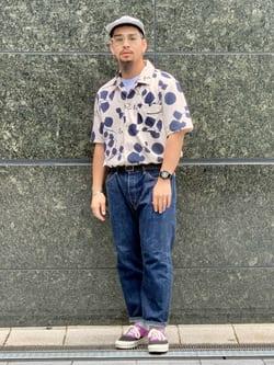 LINKS UMEDA店の番場 祐太郎さんのEDWINの【コンセプトショップ限定】REGULER STRAIGHT ボタンフライ 【レングス82cm】を使ったコーディネート
