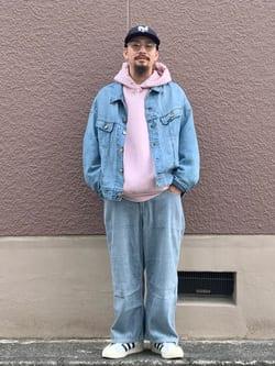 ルクア大阪の番場 祐太郎さんのLeeのSUPERSIZED ライダージャケットを使ったコーディネート
