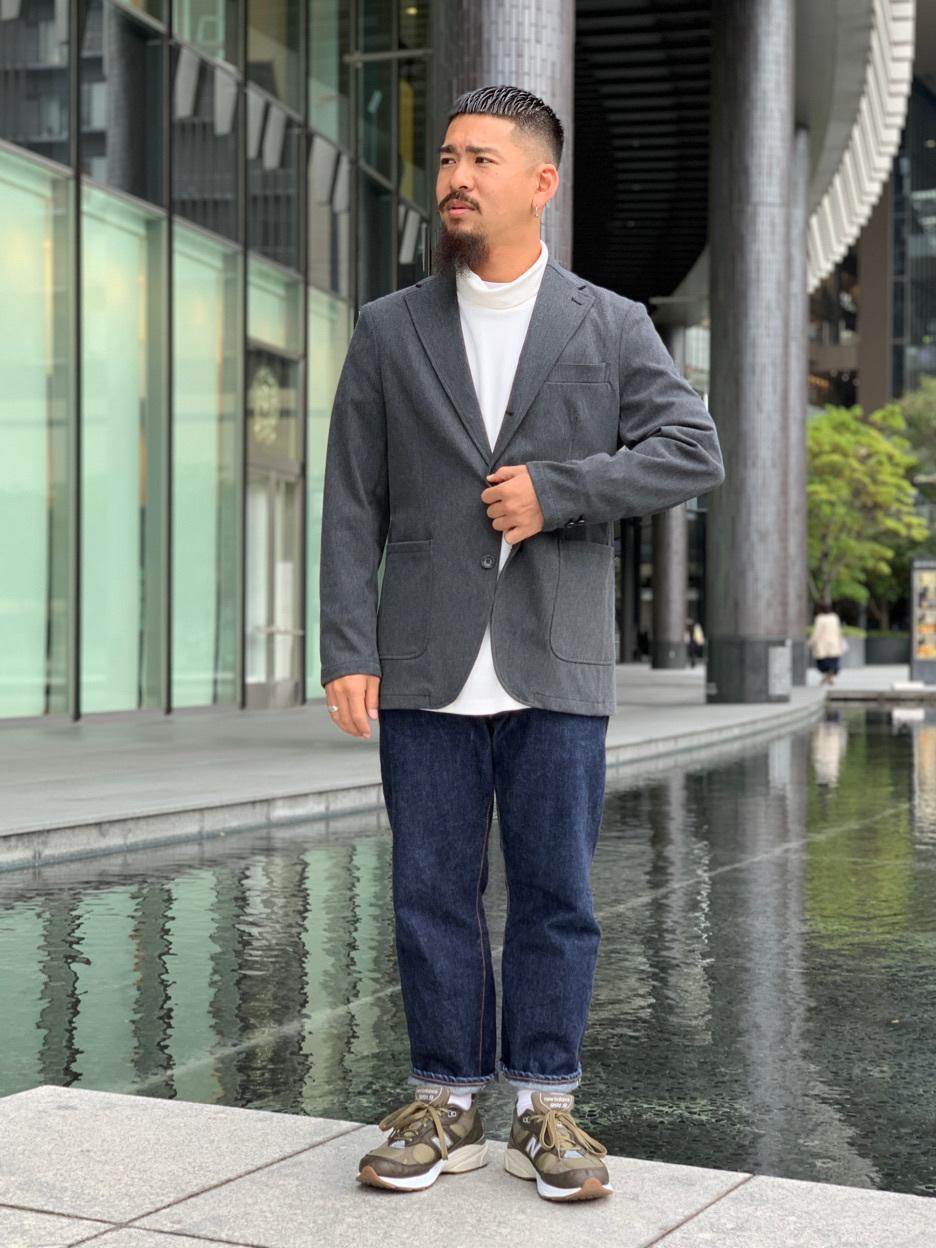 LINKS UMEDA店の番場 祐太郎さんのEDWINのデニスラ テーラードジャケットを使ったコーディネート
