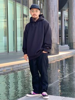 LINKS UMEDA店の番場 祐太郎さんのEDWINの【試着対象】ジャージーズ レギュラーストレート【スタンダードモデル】を使ったコーディネート
