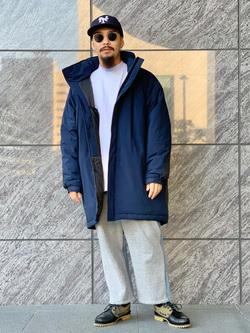 LINKS UMEDA店の番場 祐太郎さんのEDWINのF.L.E モールスジャケット (二層防風)を使ったコーディネート