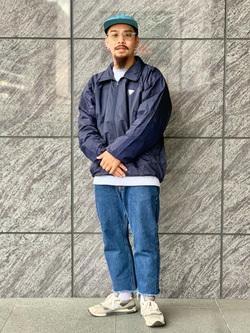 LINKS UMEDA店の番場 祐太郎さんのEDWINのインターナショナルベーシック 403 ふつうのストレートを使ったコーディネート