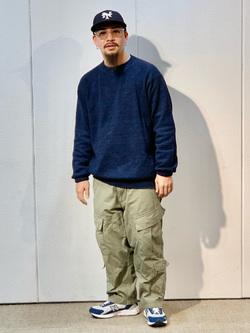 LINKS UMEDA店の番場 祐太郎さんのALPHAのACUタイプカーゴパンツを使ったコーディネート