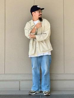 ルクア大阪の番場 祐太郎さんのLeeの【試着対象】SUPERSIZED ブーツカットを使ったコーディネート