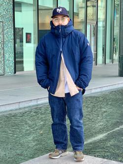 LINKS UMEDA店の番場 祐太郎さんのEDWINの【Winter sale】F.L.E エアーサックジャケット (二層防風)を使ったコーディネート
