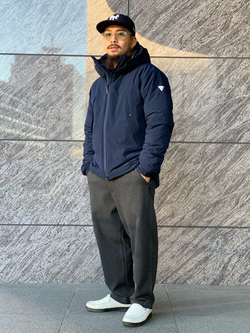 LINKS UMEDA店の番場 祐太郎さんのEDWINのF.L.E エアーサックジャケット (二層防風)を使ったコーディネート