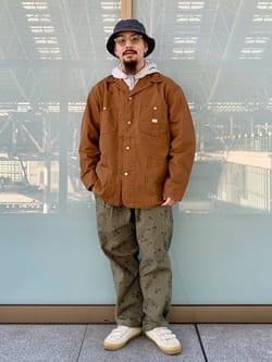 ルクア大阪の番場 祐太郎さんのLeeの【期間限定10%OFF】カバーオールジャケットを使ったコーディネート