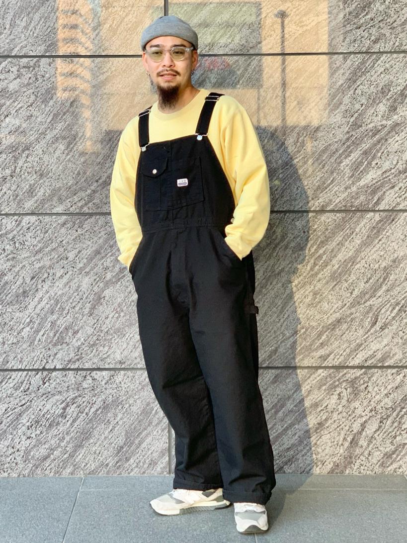 LINKS UMEDA店の番場 祐太郎さんのEDWINの【直営店限定】オーバーオール【ユニセックス】を使ったコーディネート