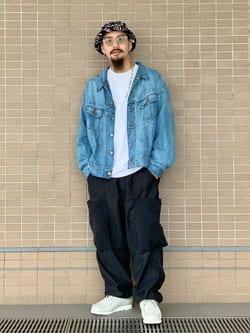 ルクア大阪の番場 祐太郎さんのLeeの【試着対象】SUPERSIZED ライダージャケットを使ったコーディネート