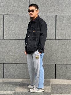 LINKS UMEDA店の番場 祐太郎さんのEDWINの【先行予約販売】【通販限定】YELLOW TAB BOXフィット デニムジャケットを使ったコーディネート
