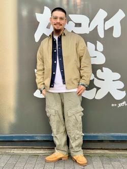 LINKS UMEDA店の番場 祐太郎さんのEDWINの【コンセプトショップ限定】ZIP UP JKTを使ったコーディネート