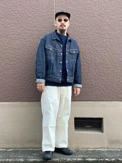 ルクア大阪の番場 祐太郎さんのLeeのARCHIVES RIDERS 101J 1950S デニムジャケットを使ったコーディネート