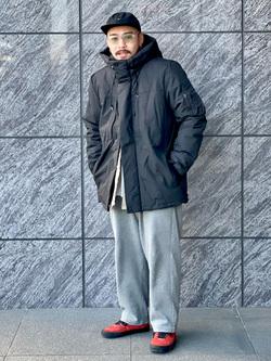 LINKS UMEDA店の番場 祐太郎さんのEDWINの【再値下げ Winter sale】ジャージーズ チノ ワイドを使ったコーディネート