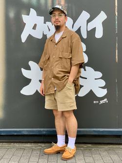 LINKS UMEDA店の番場 祐太郎さんのEDWINの歩クール イージー8ポケット 半袖シャツ 【大きいサイズ】を使ったコーディネート