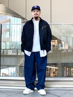 ルクア大阪の番場 祐太郎さんのLeeのフェイクスエード ワークジャケットを使ったコーディネート