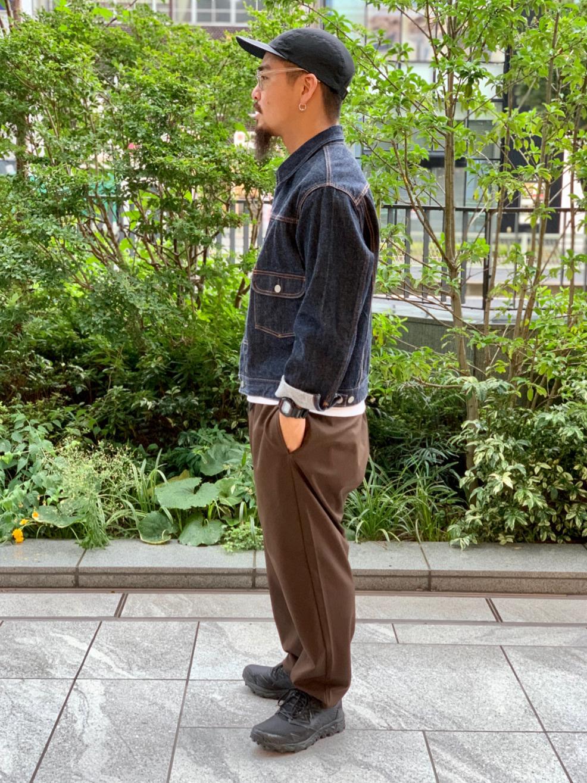 LINKS UMEDA店の番場 祐太郎さんのEDWINの【コンセプトショップ限定】DENIM JACKETを使ったコーディネート