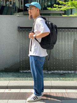 LINKS UMEDA店の番場 祐太郎さんのEDWINのYELLOW TAB ベルトタック ボンタンを使ったコーディネート