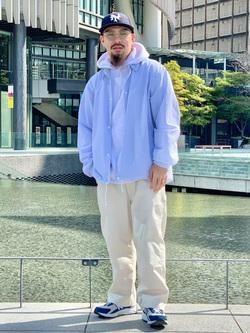 LINKS UMEDA店の番場 祐太郎さんのEDWINのコーチジャケット (BOXフィット)を使ったコーディネート