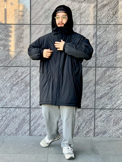 LINKS UMEDA店の番場 祐太郎さんのEDWINの【Winter sale】F.L.E モールスジャケット (二層防風)を使ったコーディネート