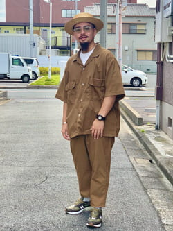 LINKS UMEDA店の番場 祐太郎さんのEDWINの【SALE】歩クール イージー8ポケット 半袖シャツ 【大きいサイズ】を使ったコーディネート
