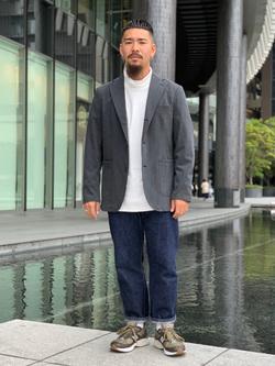 LINKS UMEDA店の番場 祐太郎さんのEDWINの【Pre sale】デニスラ テーラードジャケットを使ったコーディネート