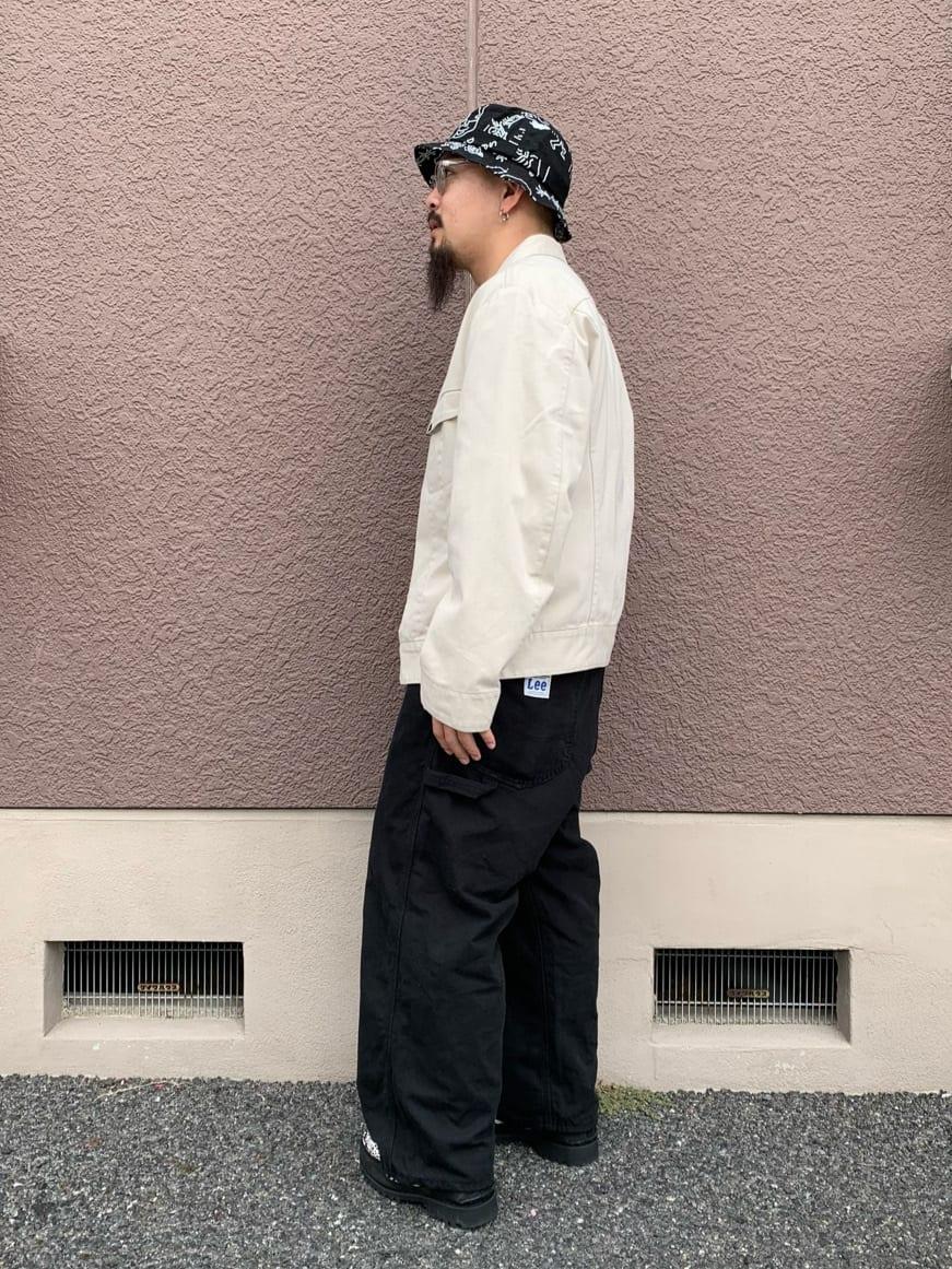 ルクア大阪の番場 祐太郎さんのLeeの【デニム15%OFFクーポン対象】【ユニセックス】DUNGAREES ペインターパンツを使ったコーディネート