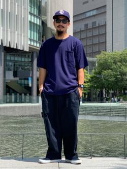 LINKS UMEDA店の番場 祐太郎さんのEDWINの【シークレットセーール!!】【直営店限定】【親子コーデができる】クルーネックポケットTシャツ 半袖 【110-180cm】を使ったコーディネート