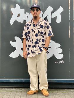 LINKS UMEDA店の番場 祐太郎さんのEDWINの【コンセプトショップ限定】EDWIN EUROPE MOMENT OF BLISS SHIRTを使ったコーディネート