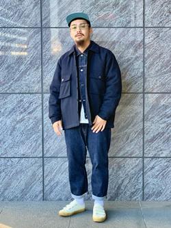 LINKS UMEDA店の番場 祐太郎さんのEDWINのヘリンボーン CPO ジャケットを使ったコーディネート