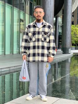 LINKS UMEDA店の番場 祐太郎さんのEDWINの【コンセプトショップ限定】EDWIN×ZOO YORK DENIM MIX PANTSを使ったコーディネート